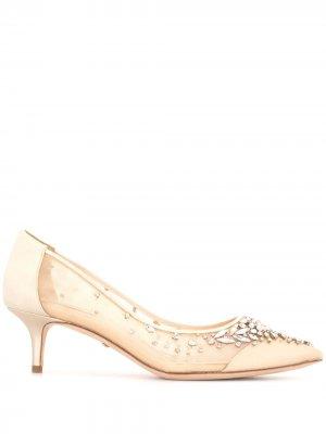 Туфли Onyx с кристаллами Badgley Mischka. Цвет: золотистый