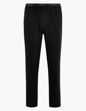 Пижамные брюки из хлопка Supima Autograph. Цвет: черный