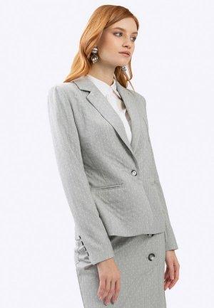 Пиджак Emka. Цвет: серый