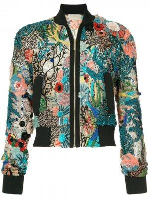 Embellished bomber jacket Elie Saab. Цвет: разноцветный