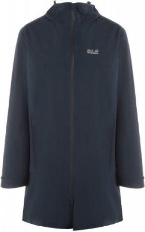 Куртка мембранная женская Jack Wolfskin JWP, размер 52-54. Цвет: синий