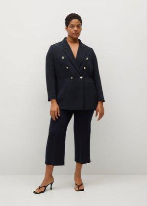 Укороченные костюмные брюки - Veronika Mango. Цвет: темно-синий