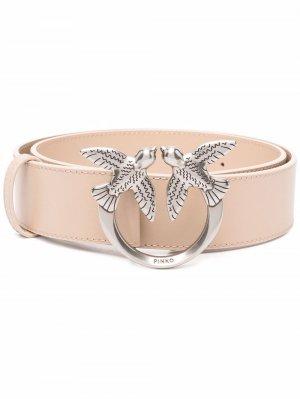 Ремень Love Birds с пряжкой-логотипом Pinko. Цвет: нейтральные цвета