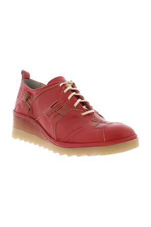 Туфли Fly London. Цвет: красный