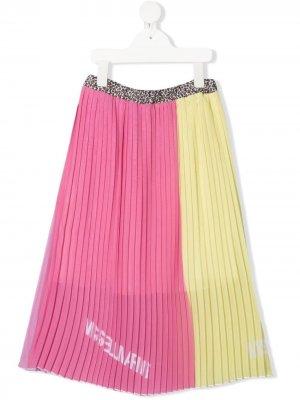 Плиссированная юбка в двух тонах Miss Blumarine. Цвет: желтый