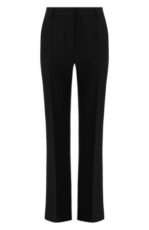 Расклешенные брюки из смеси шерсти и шелка Valentino. Цвет: черный