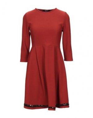 Короткое платье SISTE' S. Цвет: коричневый