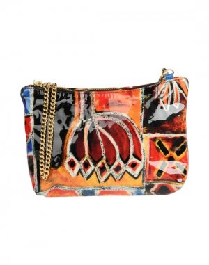 Средняя кожаная сумка BRUNO AMARANTI. Цвет: оранжевый