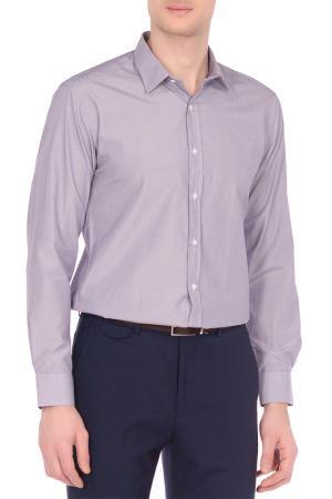 Рубашка Karflorens. Цвет: темно-серый, баклажановый
