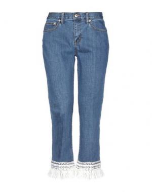 Джинсовые брюки-капри TORY BURCH. Цвет: синий