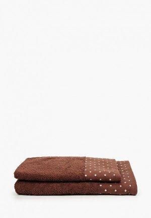 Набор полотенец Эго 50х85 см, 70х135 см. Цвет: коричневый