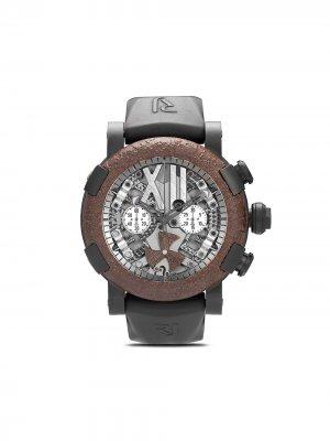 Наручные часы Steampunk Titanic Chronograph 50 мм Romain Jerome. Цвет: br