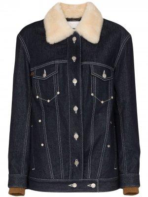Джинсовая куртка с меховым воротником Chloé
