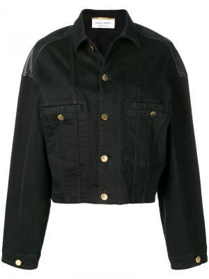 Джинсовая куртка в стиле оверсайз Alberta Ferretti. Цвет: черный