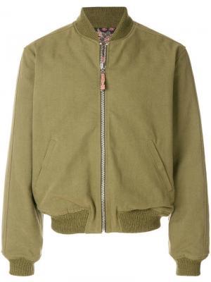 Куртка-бомбер Loik Isabel Marant. Цвет: зеленый