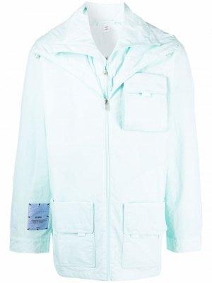 Куртка с капюшоном и карманами MCQ. Цвет: синий