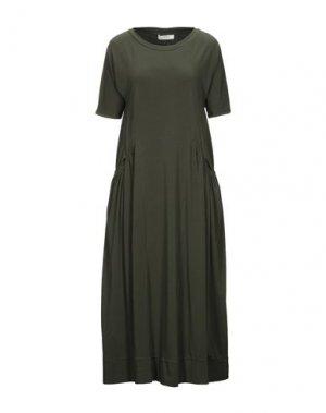 Платье длиной 3/4 ALPHA STUDIO. Цвет: темно-зеленый