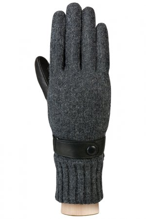 Перчатки Labbra. Цвет: черный, серый