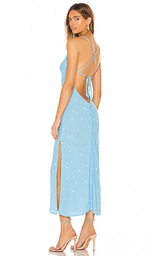 Платье миди saturdaze FLYNN SKYE. Цвет: синий