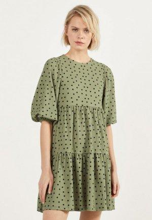 Платье Bershka. Цвет: хаки