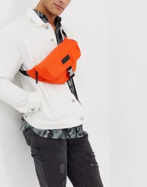 Оранжевая сумка-кошелек на пояс Consigned. Цвет: оранжевый