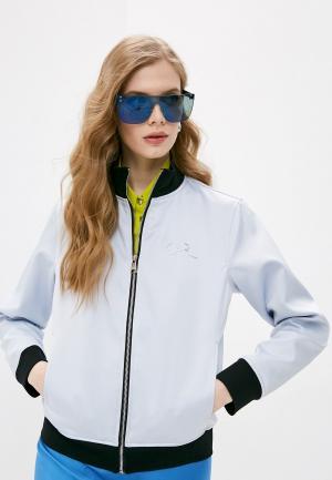 Куртка Karl Lagerfeld. Цвет: голубой
