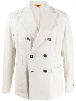 Двубортный пиджак узкого кроя Barena. Цвет: нейтральные цвета
