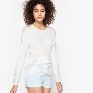 Пуловер кружевной PATRICIA SUNCOO. Цвет: белый