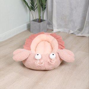 Плюшевая кровать для домашних животных в форме омара SHEIN. Цвет: розовые