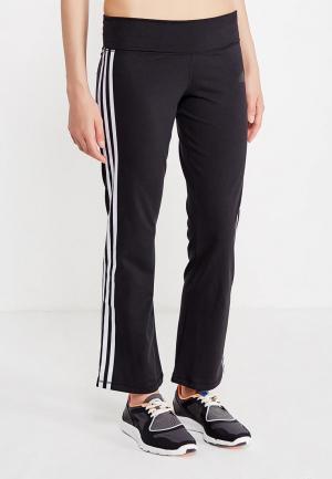 Брюки спортивные adidas BRUSHED 3S PANT. Цвет: черный