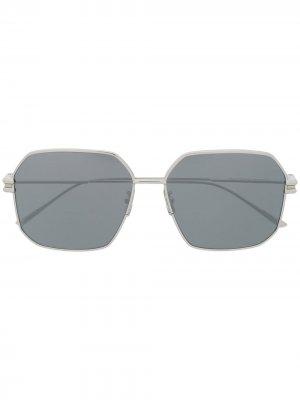 Солнцезащитные очки BV1047S в шестиугольной оправе Bottega Veneta Eyewear. Цвет: серебристый