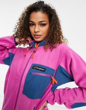 Фиолетовая флисовая куртка Ascent 91-Фиолетовый цвет Berghaus