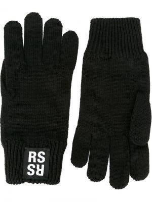 Перчатки Raf Simons. Цвет: чёрный