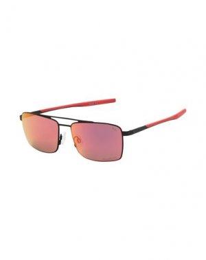 Солнечные очки PUMA. Цвет: стальной серый