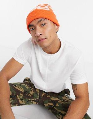 Оранжевая шапка-бини с логотипом AAPE By A Bathing Ape-Оранжевый цвет APE®
