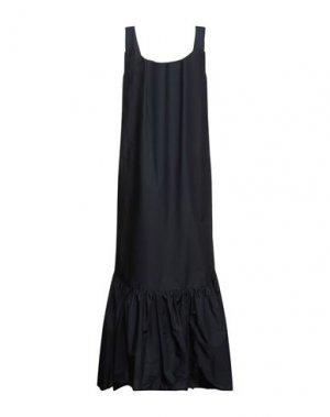 Длинное платье KI6? WHO ARE YOU?. Цвет: темно-синий