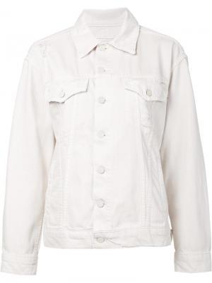 Джинсовая куртка Mother. Цвет: белый