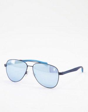 Солнцезащитные очки-авиаторы Hugo Boss 1077/S-Голубой