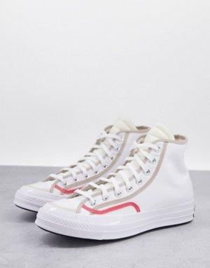 Белые кроссовки Chuck 70 Varsity-Белый Converse