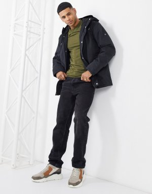 Матросская куртка с капюшоном -Черный Fat Moose