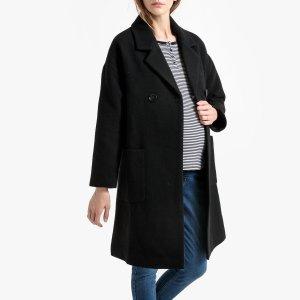 Пальто La Redoute. Цвет: черный