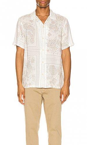 Рубашка с коротким рукавом ventura short sleeve shirt ALLSAINTS. Цвет: серый