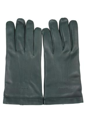 Элегантные перчатки ETRO. Цвет: зеленый
