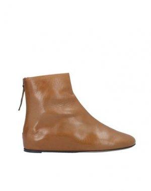 Полусапоги и высокие ботинки LORENA PAGGI. Цвет: верблюжий