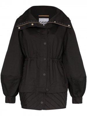Куртка-бомбер GANNI. Цвет: черный