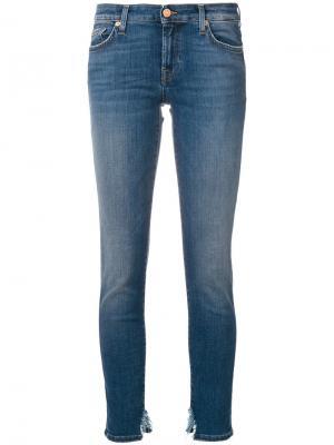 Distressed hem slim-fit jeans 7 For All Mankind