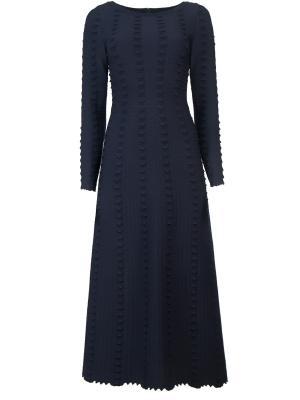 Приталенное платье ALAIA. Цвет: синий
