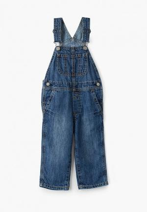 Комбинезон джинсовый Gap. Цвет: синий