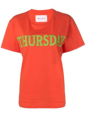 Футболка Thursday Alberta Ferretti. Цвет: оранжевый