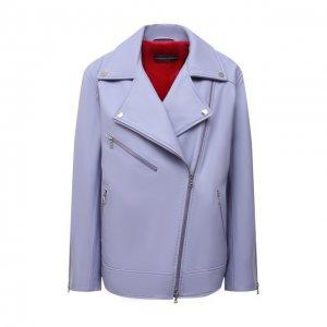 Кожаная куртка Maslov. Цвет: сиреневый
